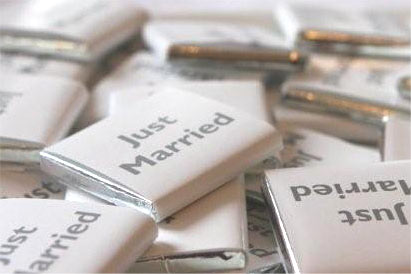 Just married chocolates