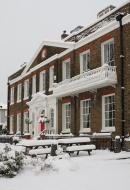 Linden House in the snow